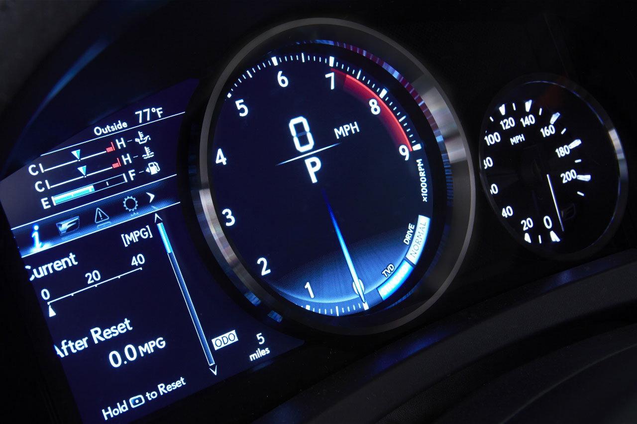 Lexus RC-F Dash Gauges