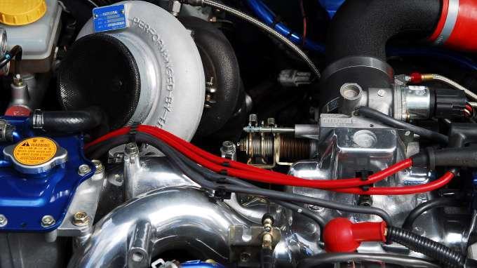 Engine Bay With A Big Turbo