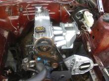 custom 4150 carb intake for 2.3 turbo motor