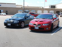 my buddys gto and mine