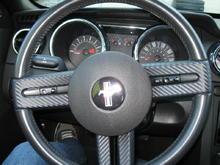 mustang steering carbon