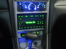 HVAC and shifter light in blue LEDs