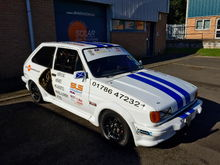 Fiesta XR2 hill climb car