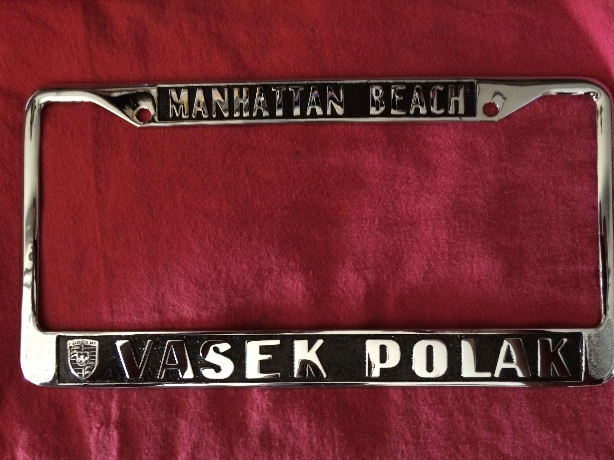 Vasek Polak License Plate Frames Rennlist Discussion Forums