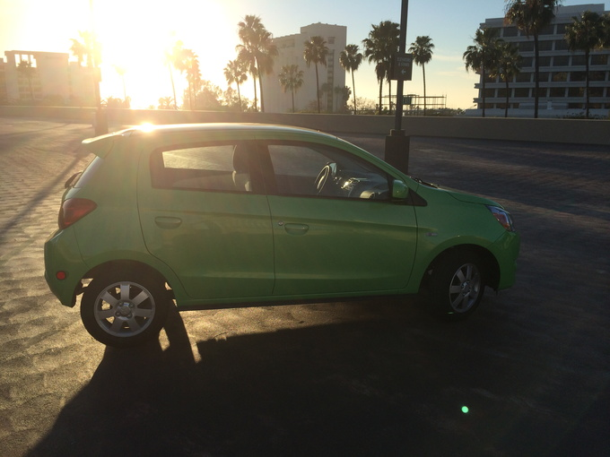 2014 Mitsubishi Mirage side
