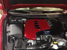 Color matched engine cover