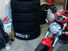 Yeah its winter time and my garage is a mess...the new tires and ducati monster help out a little