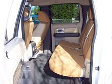 Carhartt rear seat covers.