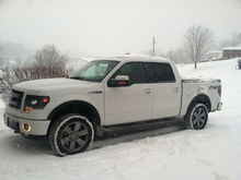 Snowing in Ohio! Truck performed awesome in 4H