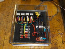 Custom Electrical Control Console 1. Front Driving Lights 2. Rear Red Fog Lights 3. Rear Auxiliary Reverse Lights 4. Air Horns