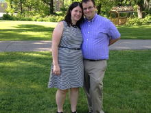 Us from a wedding we attended in June.