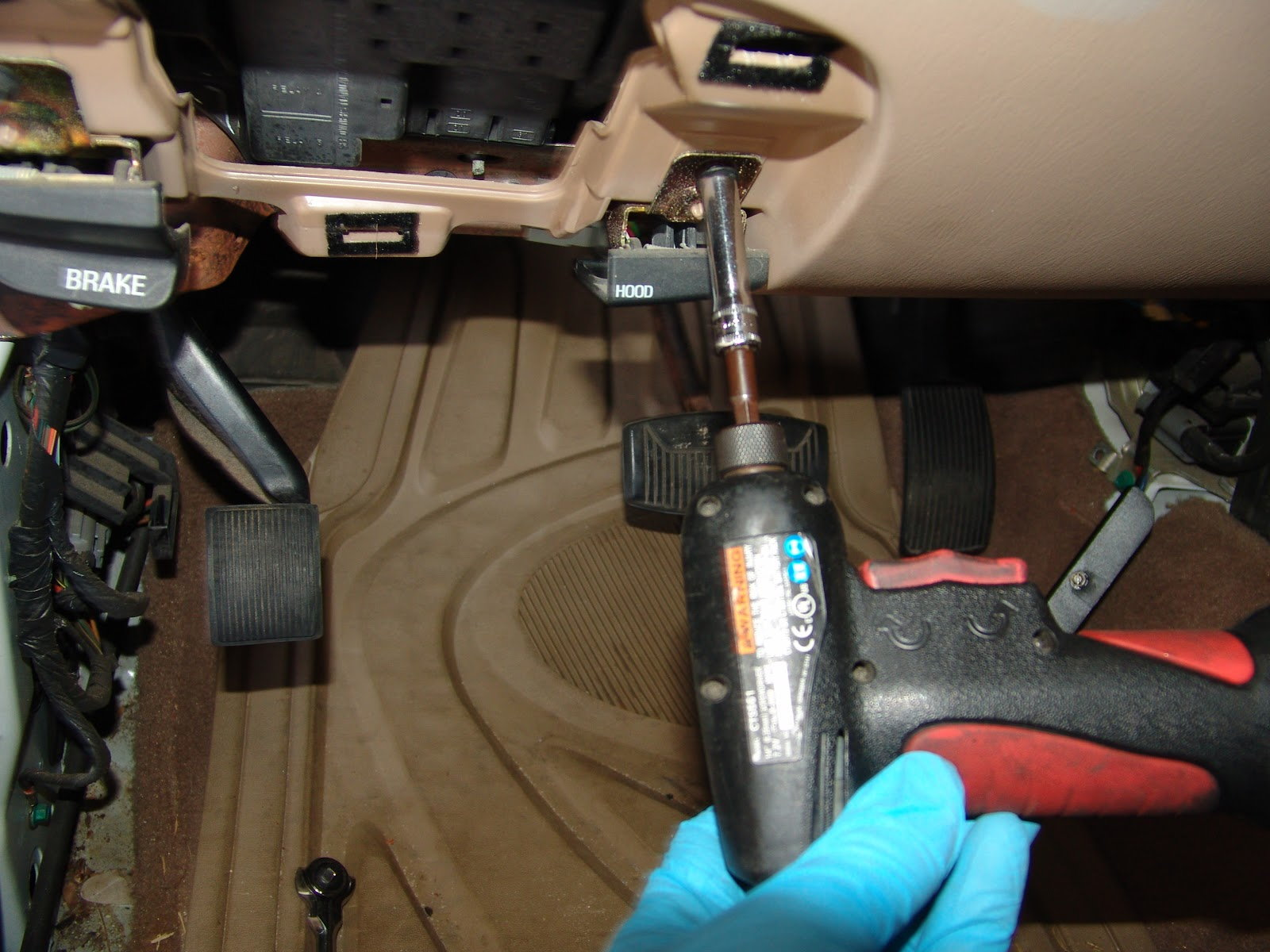 Ford F150 F250 Replace A Locking Hood Release Cable How To