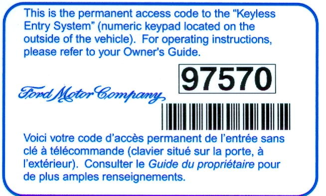 ford   reprogram door keypad code   ford trucks