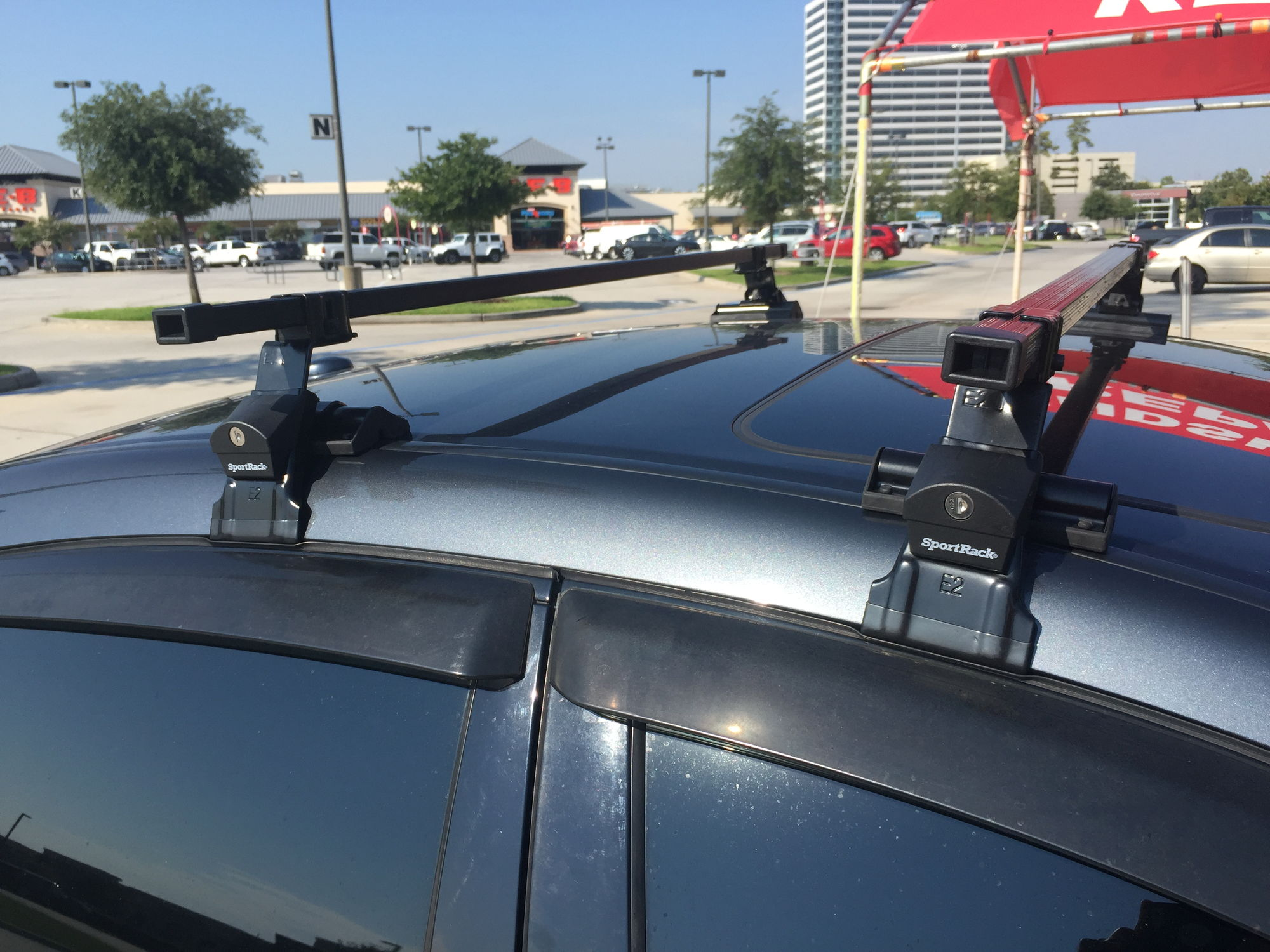 I didn't want to spend $250-500 on a Thule or Yakima so if anybody is on  budget these work.