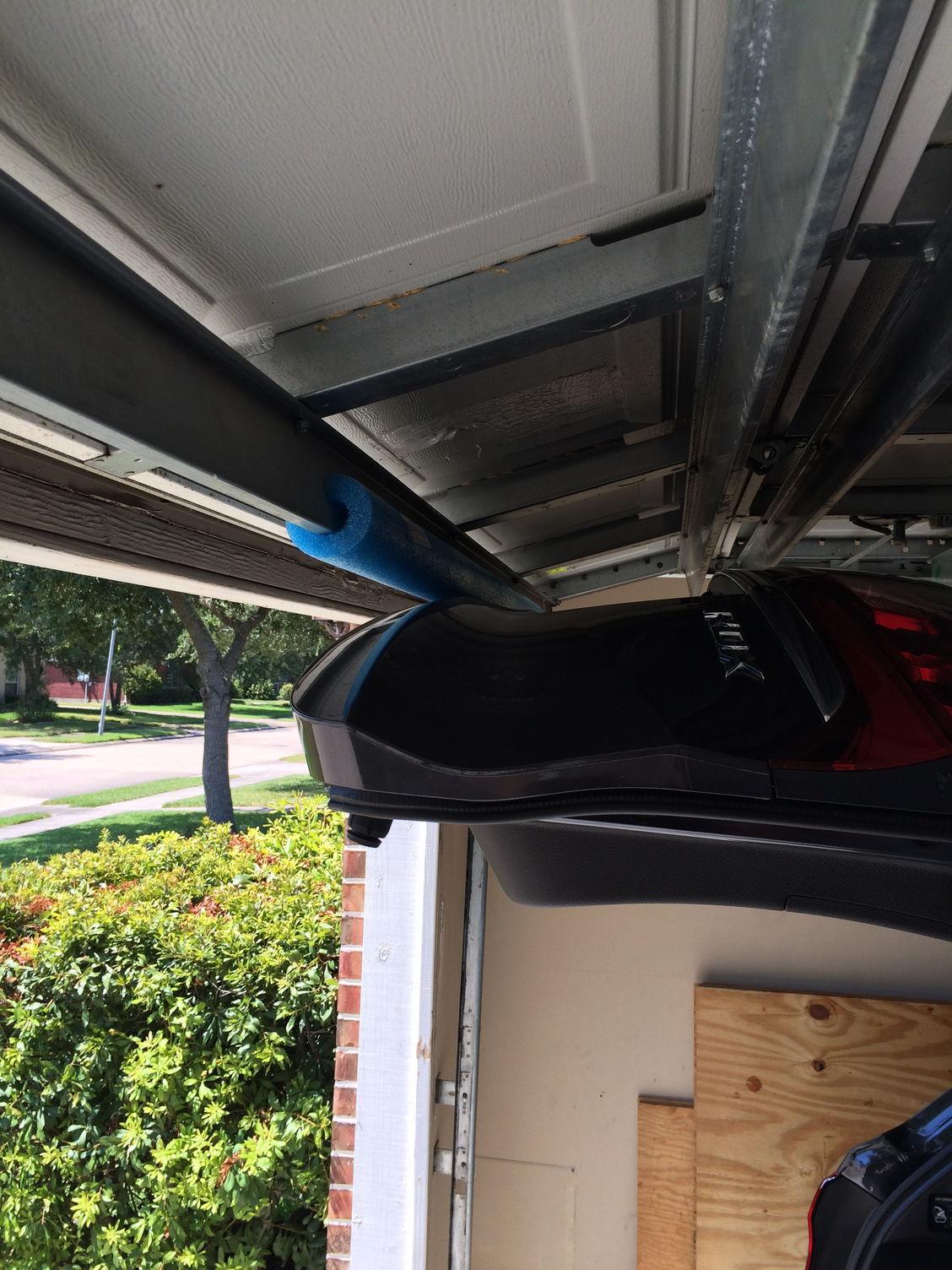 Rear hatch hitting garage door acurazine acura for Rear garage door