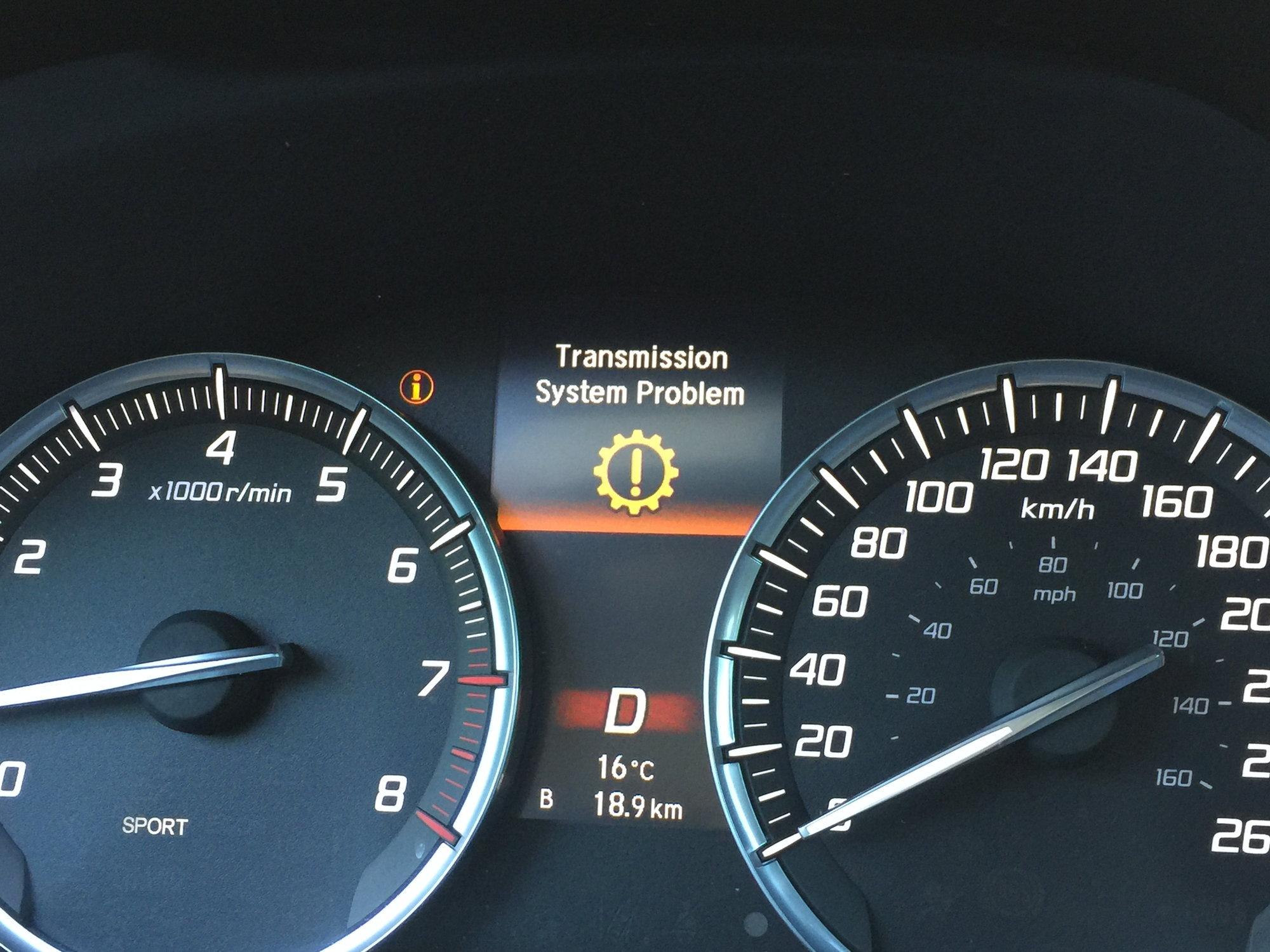 Transmission problem gear indicator flasing - AcuraZine