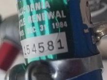 December, 1984 CA registration sticker