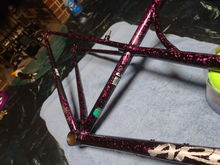 I really like the funky paint after a proper polish and wax! Almost no rust or scratches on the frame.