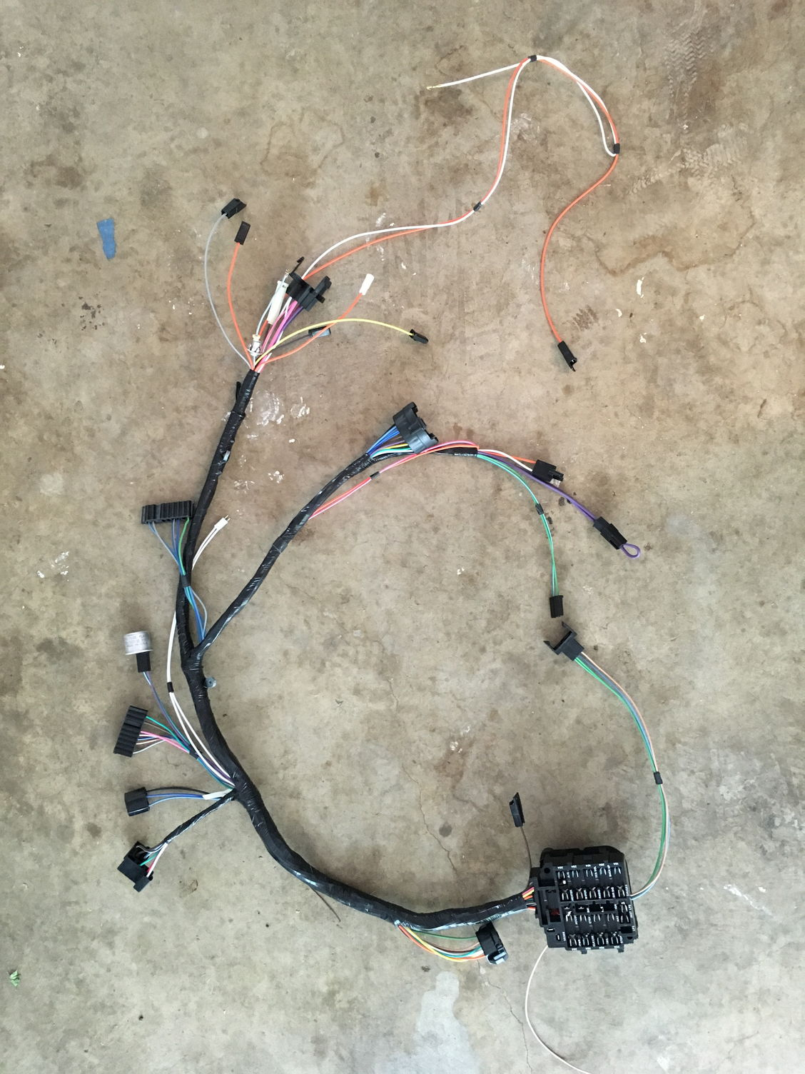 Label the 1968 Cutlass dash wiring harness (rally pack)