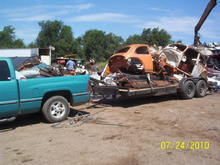 Another 2,000  of scrap metal hauled by the trusty Dodge.