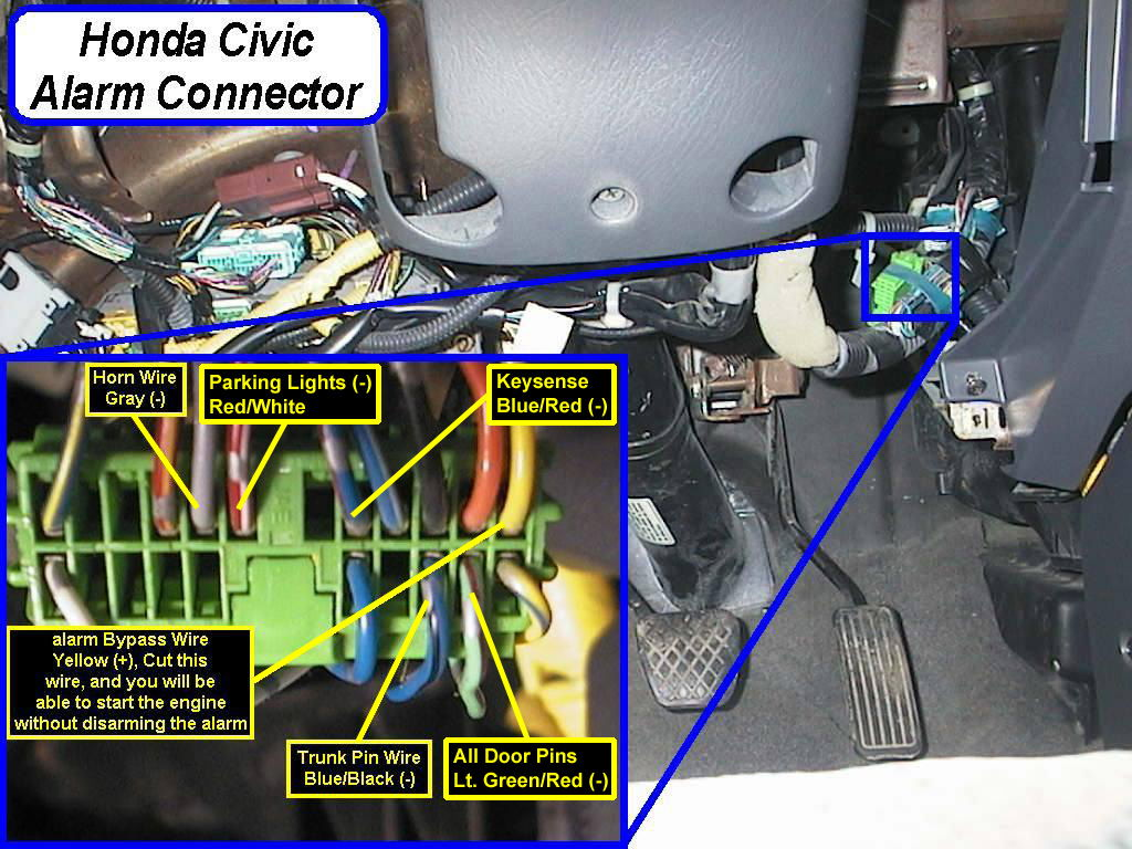 99 civic  factory   anti-theft system issues