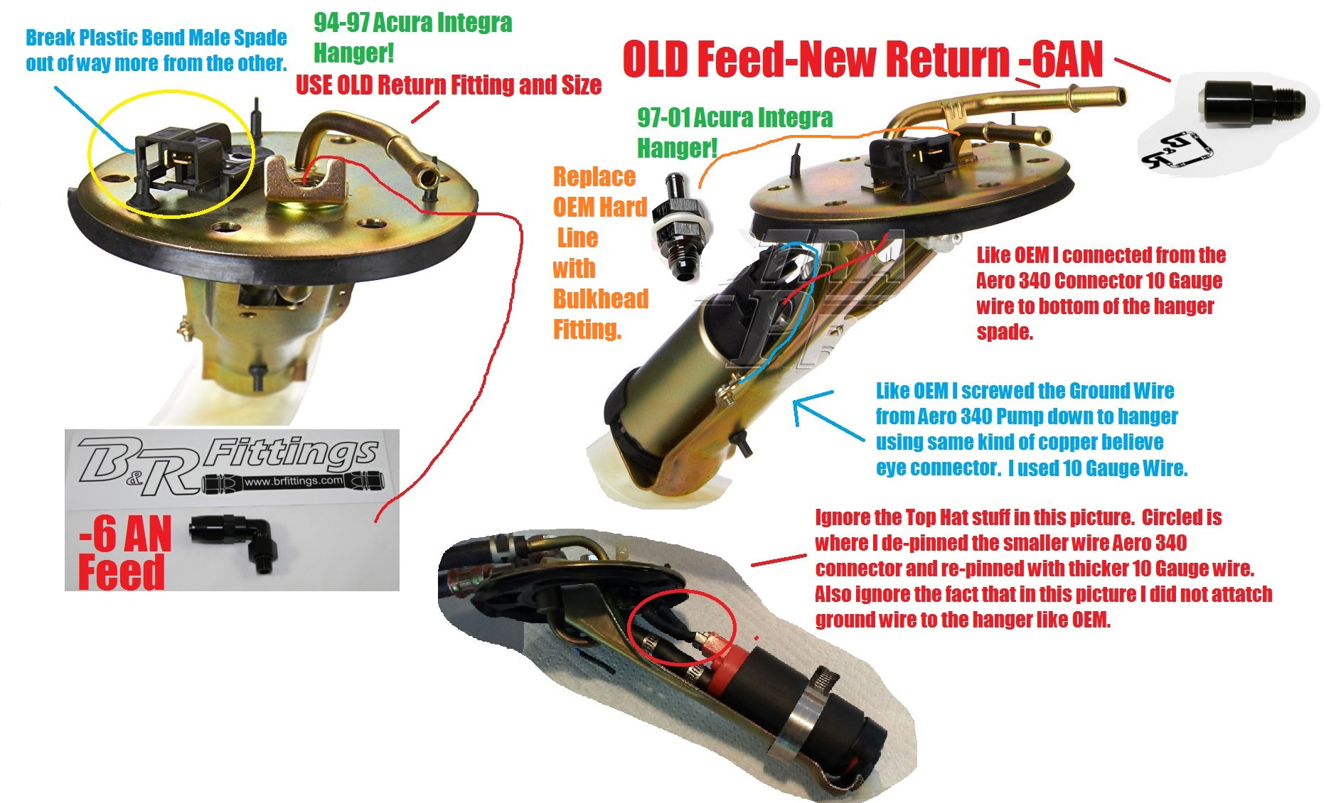 How to one way of using oem fuel pump hanger upgraded pump 10 gauge only thing i may do but do not see huge purpose right now is delete the smaller oem return hardline and either weld up new larger hardline or use newer greentooth Image collections