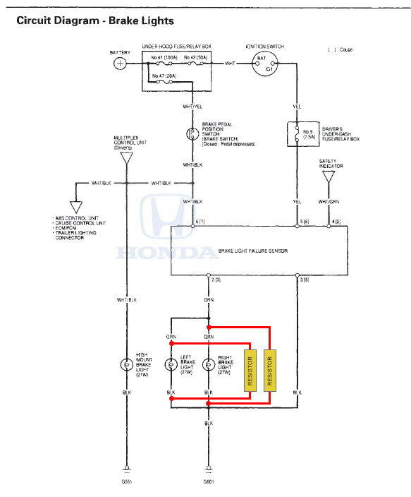 LED Load resistor accord 02 lx sedan - Honda-Tech - Honda Forum Discussion | 2005 Honda Accord Brake Light Wiring Diagram |  | Honda-Tech