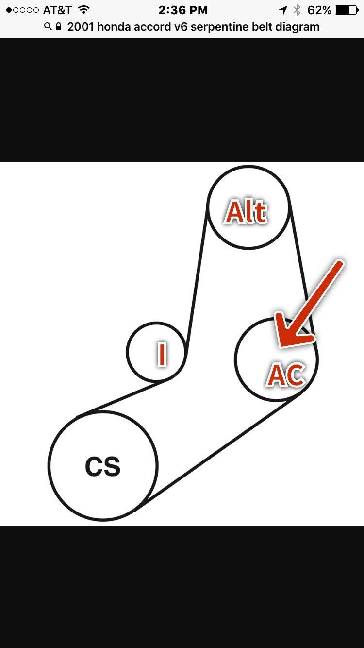 2013 civic belt diagram serpentine belt to bypass ac compressor pulley honda tech  serpentine belt to bypass ac compressor