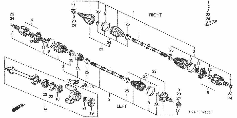 1994 accord lx  intermediate shaft carrier bearing bolt sizes  - honda-tech