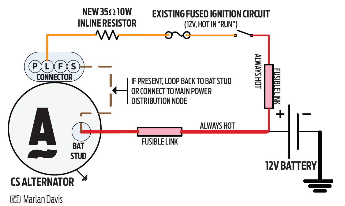 c6 corvette alternator wiring ls1tech camaro and firebird rh ls1tech com cs130 alternator wiring diagram cs144 alternator wiring