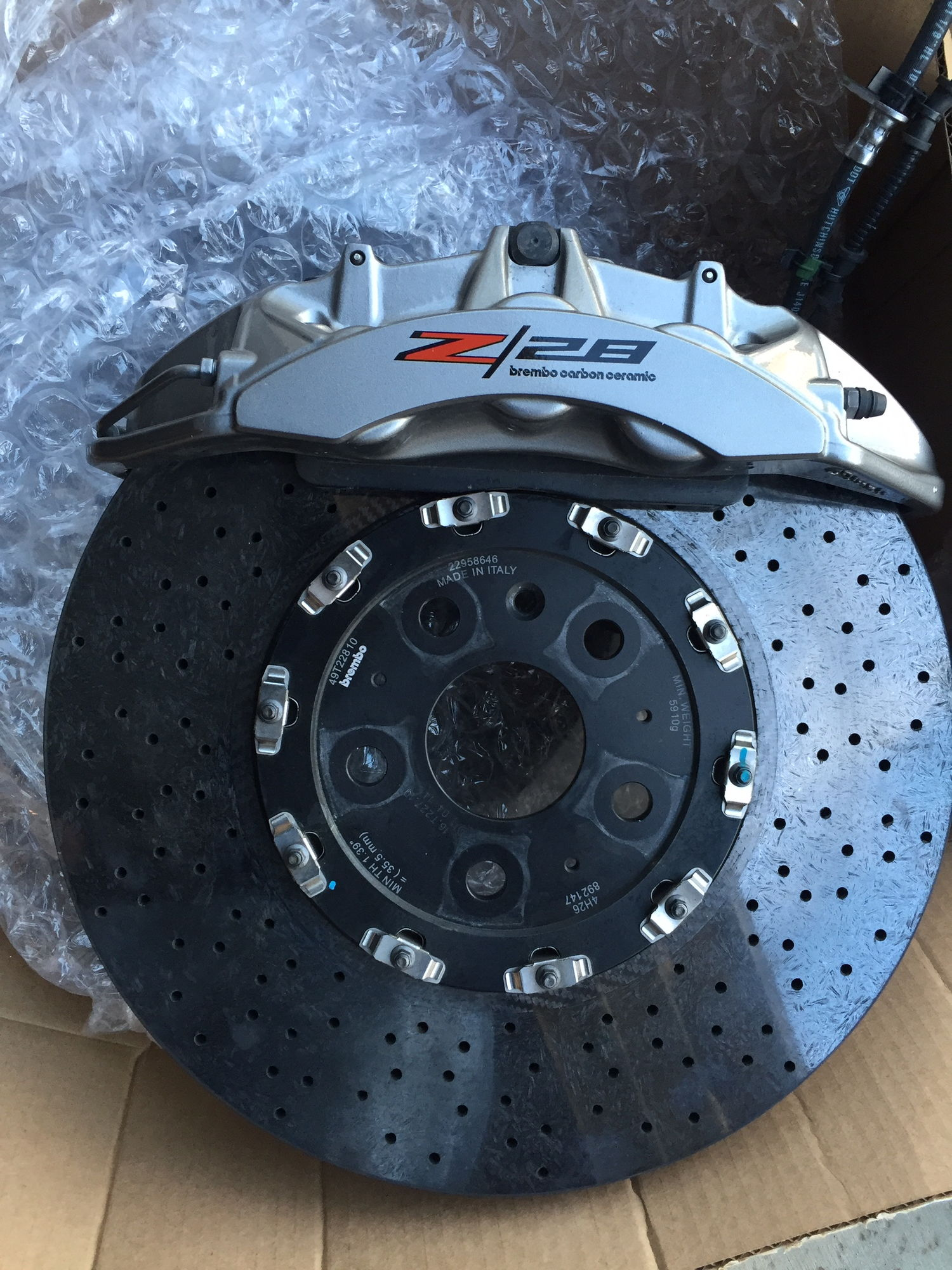 Brembo Carbon Ceramic Brake Package Ls1tech Camaro And