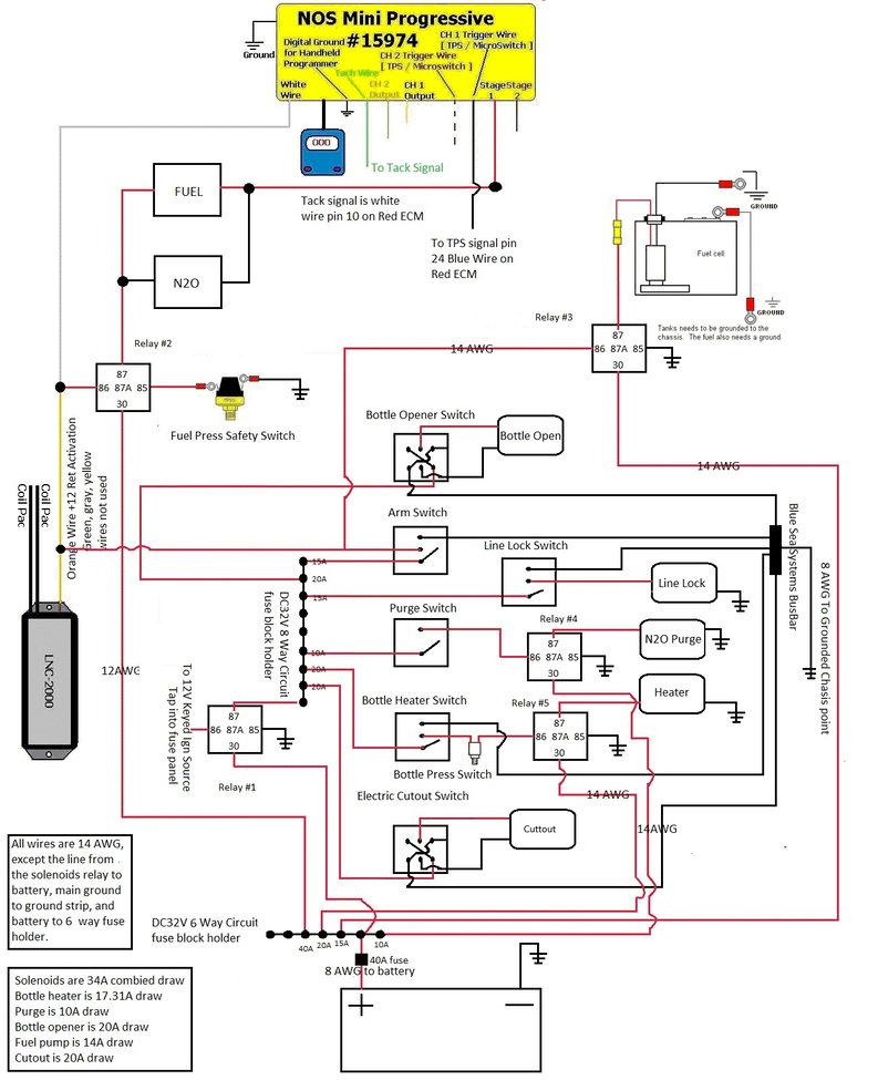 Nitrous  Tbrake  Line Lock Wiring Diagram Plate One Kit