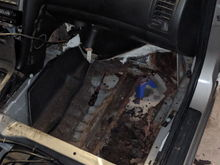 Passenger side, rusty frame rail is area of concern
