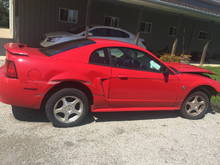 my 2004 wrecked stang, sell as  whole/parts