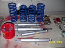 Progress springs and KYB shocks and struts