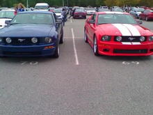 me and my friends gt66 mustang at school
