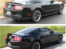 Rear lowering springs (top picture is after installation)