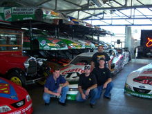 Chris, Kevin, Me & Tony in the Private Showroom at John Force Racing in CA