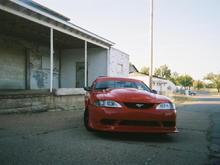 The car with the Y2K style front bumper.