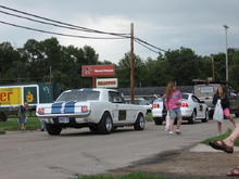 The 66 and I driving through a local parade.