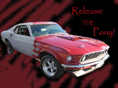 Mustang Progression - just a little photoshop thing i did...  1969 Boss 429... old to pretty =]