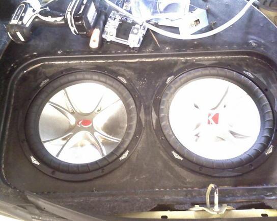 """12"""" Kicker CVR's= awesome sound."""
