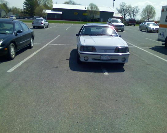 this is how i park when i go to supermarkets...