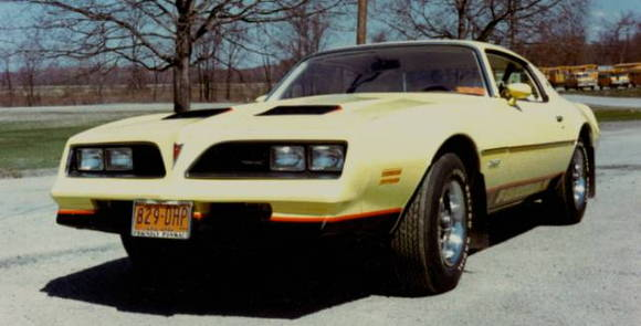 """1978 Firebird Formula.   I sold my 73 Mach 1 and bought this car in December of 1977.   It didn't have the performance of the Mach 1, but it was a lot easier to see """"out"""" of than the Mach 1.   My two mistakes were getting white vinyl seats (what was I thinking) and the 350 engine instead of the 400 (big mistake)."""