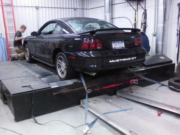 old dyno day, awd mustang dyno  old numbers -->245/275 New numbers -->306.x/298.x