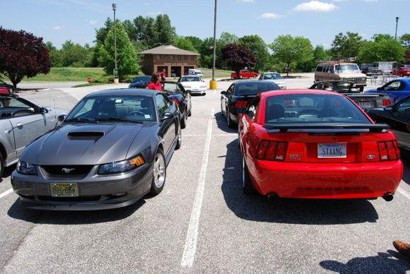 my car and matt's on the blue ridge cruise in VA