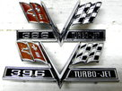 67 66 65 Chevelle 396 Turbo-Jet Emblems Impala