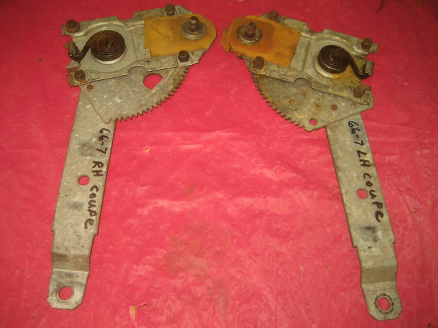 1966-1967 Pontiac GTO Quarter Window Regulators