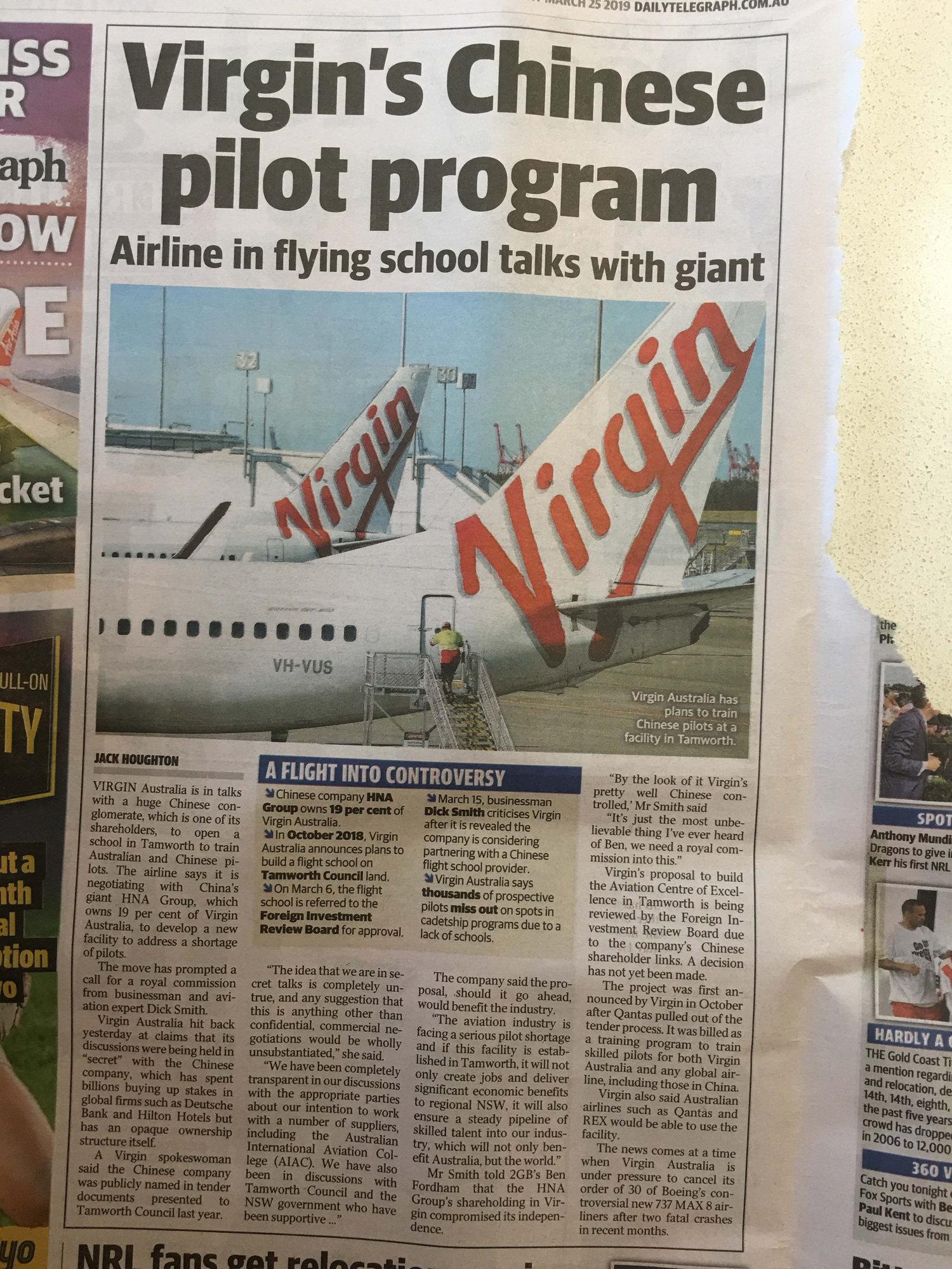 Virgin Pilot Training - PPRuNe Forums