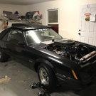 1985 Mustang drag car